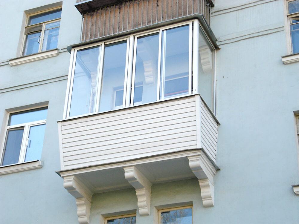 Остекление балконов и лоджий пластиковыми окнами в Чебоксара.