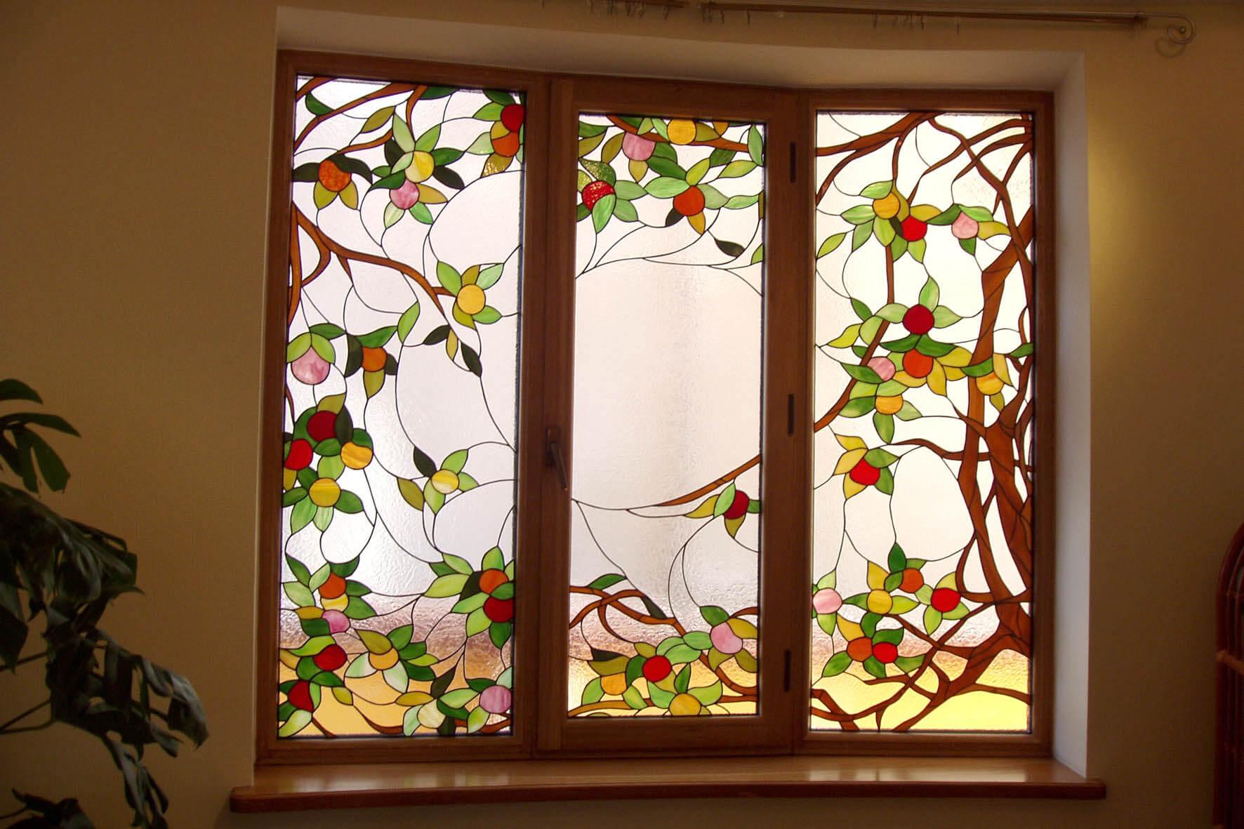 Витраж на окнах своими руками фото 95
